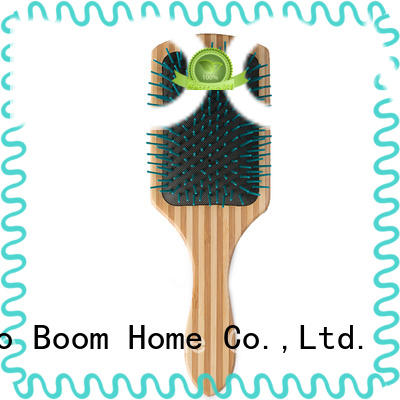 Boom Home round wood hair brush inquire now for travel