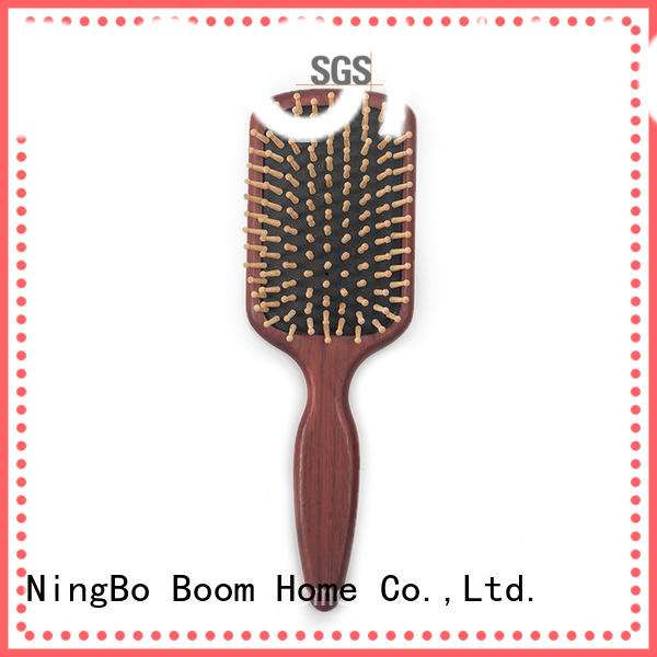anti-static wooden hair brush cute design for shop