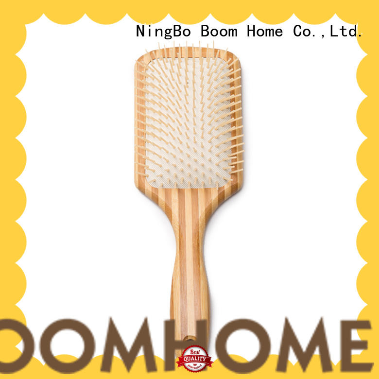 Boom Home personalized wooden handle hair brush with good price for hotel