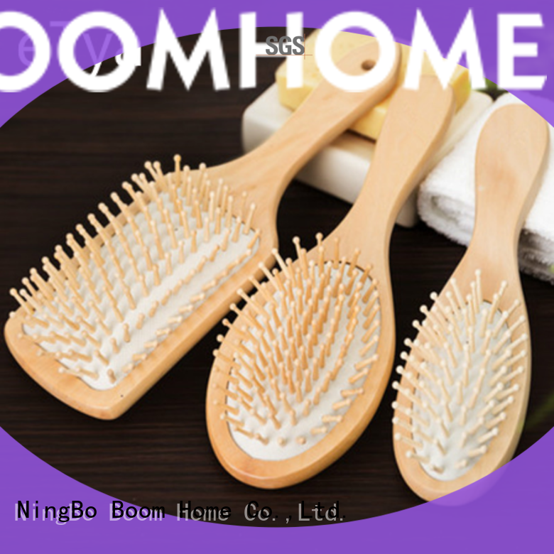large wooden hair brush cushion with good price for hotel