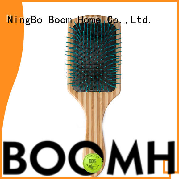Boom Home hairdressing wooden paddle hair brush with good price for travel