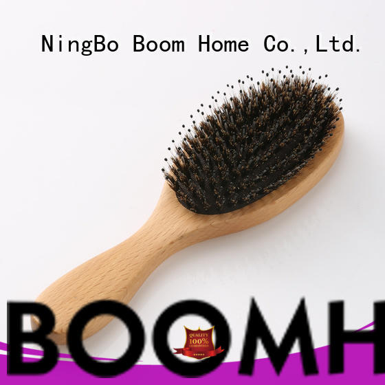 natural wooden paddle brush facial design for hotel