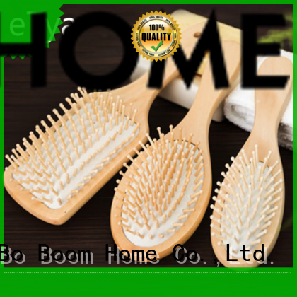 Boom Home bamboo wooden hair comb factory for travel