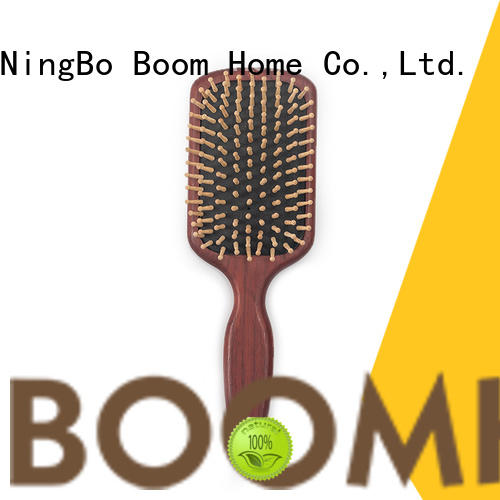 Boom Home natural wooden handle hair brush inquire now for home